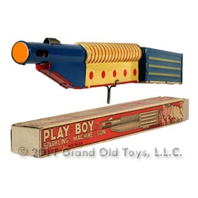 1936 Marx Play Boy Sparkling Machine Gun In Original Box