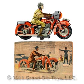 1949 Arnold No 563 Motorcyclist In Original Box