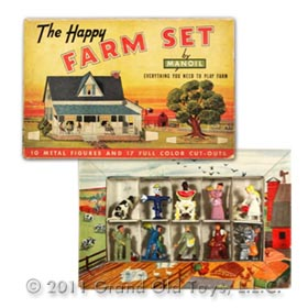 1941 Manoil The Happy Farm Set In Original Box