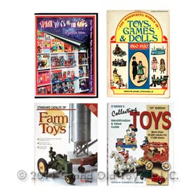 4 Antique Toy Collecting Reference Books