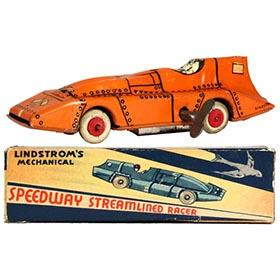 c.1933 Lindstrom, Orange Whippet Racer in Original Box