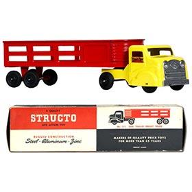 1955 Structo Semi-Trailer Freight Truck in Original Box