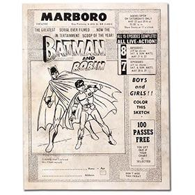 1950 Batman & Robin Matinee Serial Coloring Contest Form