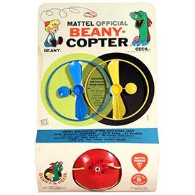 1961 Mattel, Official Beany-Copter Sealed on Original Card