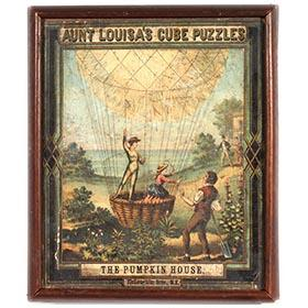 c.1880 McLoughlin, Fairy Tale Puzzles in Original Oak Box