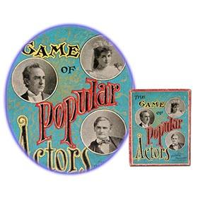 1893 Parker Bros. Game of Popular Actors in Original Box