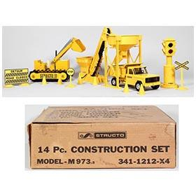 c.1967 Structo, 14pc. Construction Set in Original Box