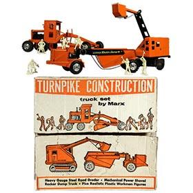 1965 Marx, Turnpike Construction Set in Original Box