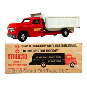 1958 Structo No. 250 Hydraulic Dump Truck In Original Box