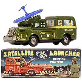 c.1958 Nomura Friction Satellite Launcher in Original Box