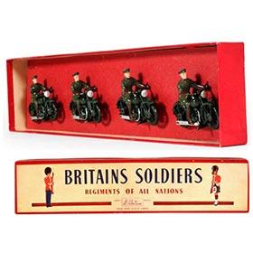 c.1940 Britains Royal Corps Motorcyclists in Original Box