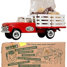 1962 Nylint Happy Acres Ford Stake Truck in Original Box