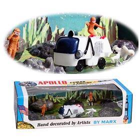 1970 Marx Apollo Lunar Landing Miniature Playset in Box