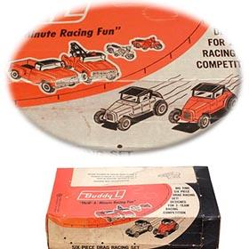 1965 Buddy L, 6pc. Drag Racing Set in Factory Sealed Box