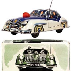 c.1954 Niedermeier, Jaguar XK120 Police Car in Original Box