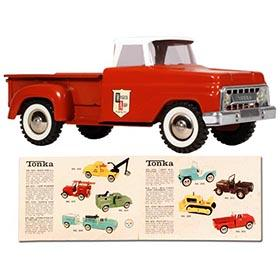 1965 Tonka, Western Auto Pick-Up Truck with Original Look Book