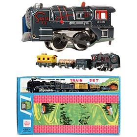 c.1960 Haji, Battery Operated Tinplate Train Set in Original Box