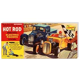 1960, Lindberg Hot Rod Electric Racers in Original Box