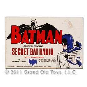 1966 Batman Super Micro Secret Bat Radio In Original Box