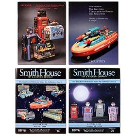 4 Original Important Robot & Space Toy Auction Catalogs