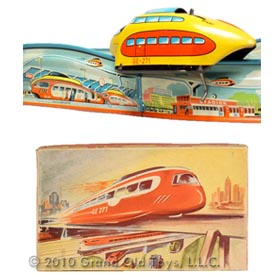 1953 Technofix, Rocket Express Monorail In Original Box