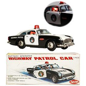c.1963 Aoshin, Aston Martin DB5 Patrol Car in Original Box