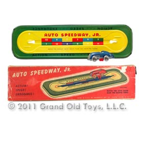 c.1934 Automatic Toy Co., Auto Speedway Jr. In Original Box