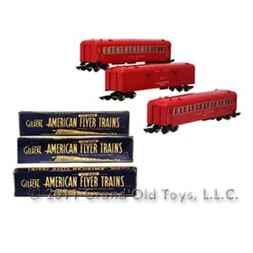 1946-1952 (3) S Gauge American Flyer New Haven Cars with Original Boxes