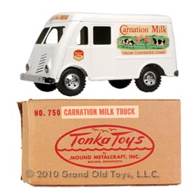 1955 Tonka Carnation Milk Truck In Original Box