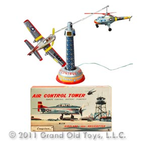 c.1961 Bandai Air Control Tower In Original Box
