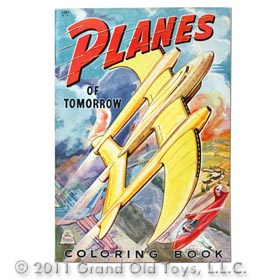 1944 Planes Of Tomorrow Coloring Book, Merrill Pubications