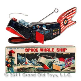 c.1957 Yoshiya, Space Whale Ship In Original Box