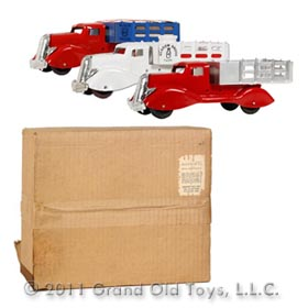 c.1947 Marx, Exclusive Pressed Steel Triple Truck Boxed Set