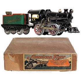 1932 American Flyer 5pc. Clockwork Train Set in Original Box