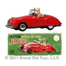 c.1952 Linemar, Pluto In His Jaguar In Original Box