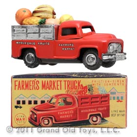 1955 Linemar Farmer's Market Truck In Original Box