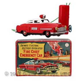 1950 Linemar, Fire Chief Emergency Car In Box
