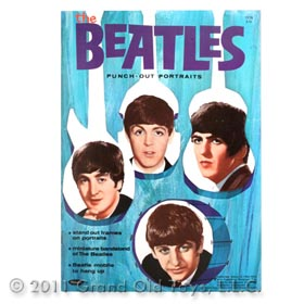 1964 Whitman, The Beatles Punch Out Portraits Book