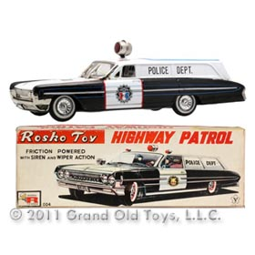 1961 Yonezawa Oldsmobile Police Station Wagon In Box