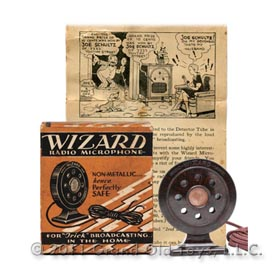 c.1925 Wizard Radio Microphone In Original Box