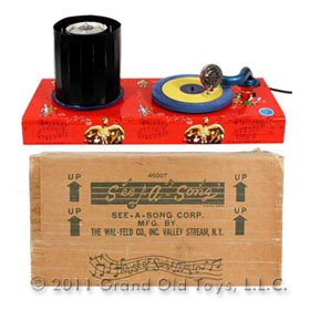 c.1955 See A Song Zeotrope Phonograph In Original Box