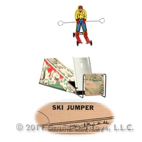 c.1946 Wolverine No. 32 Ski Jumper In Original Box