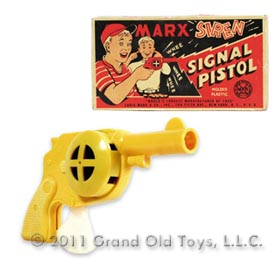 1950 Marx Siren Signal Pistol In Original Box