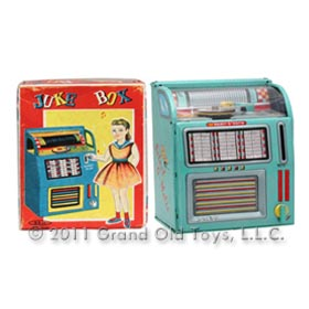 c.1956 Haji Mechanical Juke Box Bank In Original Box