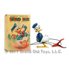 1955 Linemar Donald Duck Remote Control In Original Box
