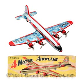 1957 Linemar Northwest DC-7, 4 Motor Airplane In Original Box