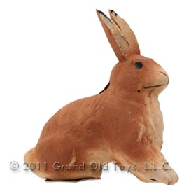 c1920 Germany Paper Mache Rabbit Candy Container