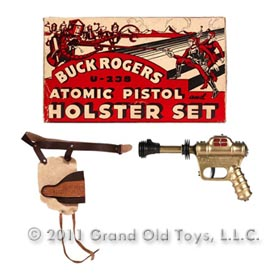 1946 Daisy Buck Rogers U-238 Atomic Pistol Holster Set With Original Box