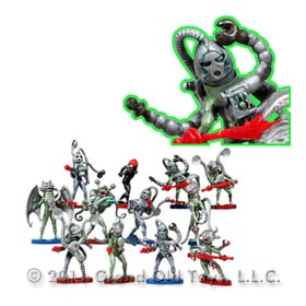 1981 Britains 12 Alien Soldiers On Die Cast Bases