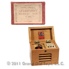 c.1955 Chad Valley Gramophone Musical Box In Original Box